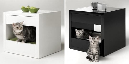 квадратные тумбы и кошки